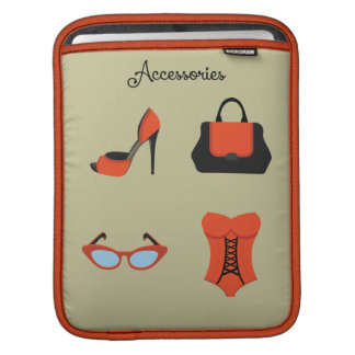 Pop Art ~ Accessories Are a Girl's Best Friend Sleeve For iPads