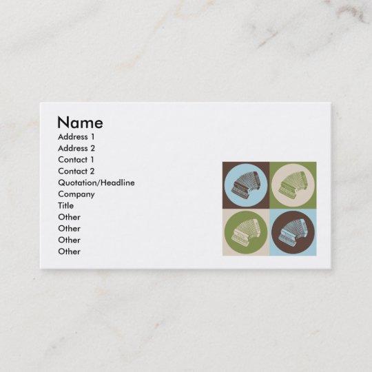 Pop Art Accordion Business Card Zazzle