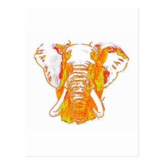 Pop Art African Elephant Postcard