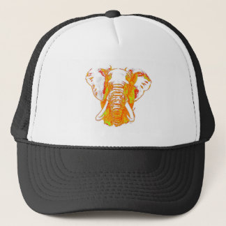 Pop Art African Elephant Trucker Hat