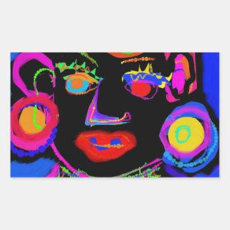 Pop Art African Queen Rectangular Sticker