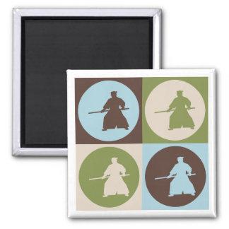 Pop Art Aikido 2 Inch Square Magnet