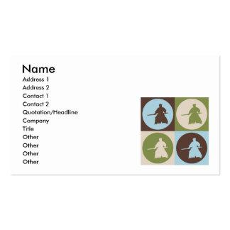 Pop Art Aikido Business Card Template
