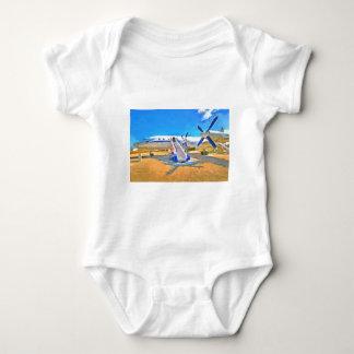 Pop Art Airliner Baby Bodysuit