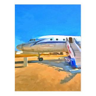 Pop Art Airliner Postcard