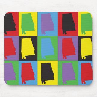 Pop Art Alabama Mouse Pad