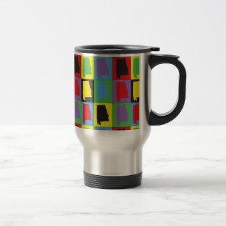 Pop Art Alabama Travel Mug