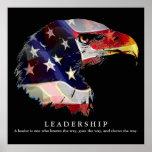 Pop Art American Flag Eagle Leadership Poster