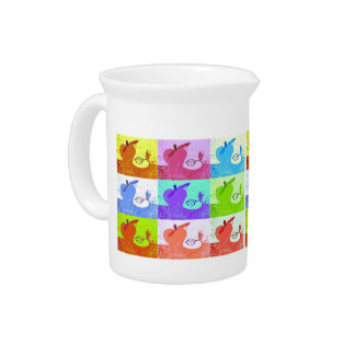 Pop Art Apple Beverage Pitcher