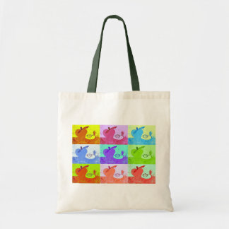 Pop Art Apples Canvas Tote Budget Tote Bag