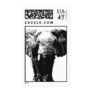 Pop Art Asian Elephant Stamps