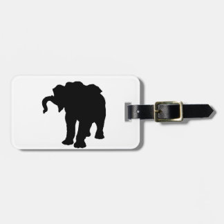 Pop Art Baby Elephant Silhouette Bag Tag