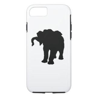 Pop Art Baby Elephant Silhouette iPhone 7 Case