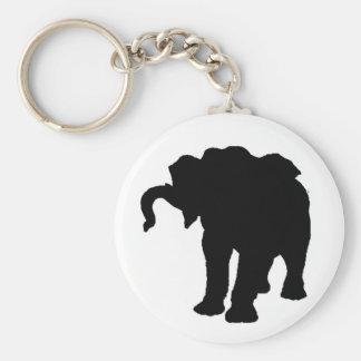 Pop Art Baby Elephant Silhouette Keychain