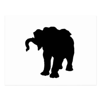 Pop Art Baby Elephant Silhouette Postcard