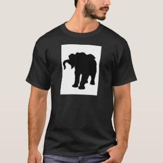Pop Art Baby Elephant Silhouette T-Shirt