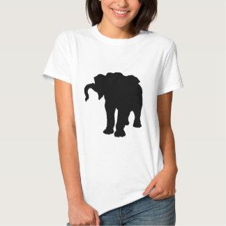 Pop Art Baby Elephant Silhouette Tee Shirt