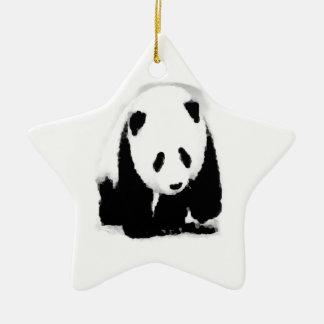 Pop Art Baby Panda Ceramic Ornament