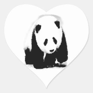 Pop Art Baby Panda Heart Sticker