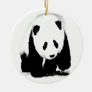 Pop Art Baby Panda Christmas Tree Ornament