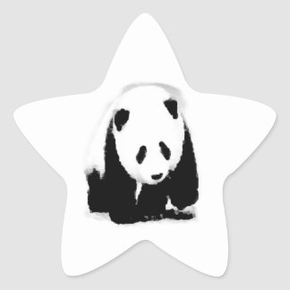 Pop Art Baby Panda Star Sticker
