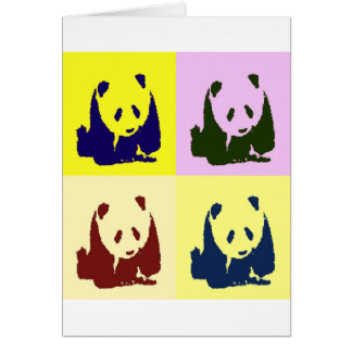 Pop Art Baby Pandas Card