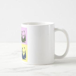 Pop Art Baby Pandas Classic White Coffee Mug