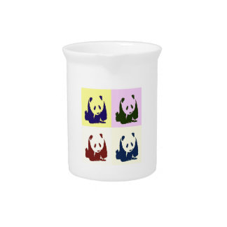 Pop Art Baby Pandas Drink Pitcher
