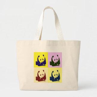 Pop Art Baby Pandas Large Tote Bag