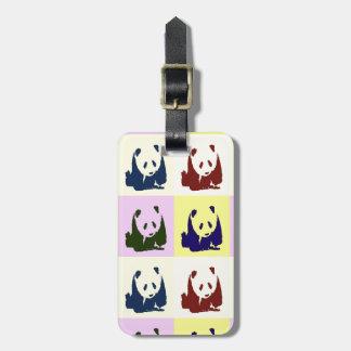 Pop Art Baby Pandas Luggage Tag