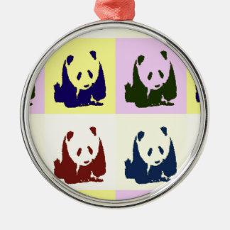 Pop Art Baby Pandas Christmas Ornaments