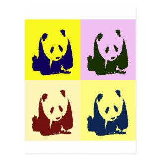 Pop Art Baby Pandas Postcard