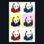 "Pop Art Baby Pandas Stationery<br><div class=""desc"">Four Color Baby Panda Pop Art Painting</div>"