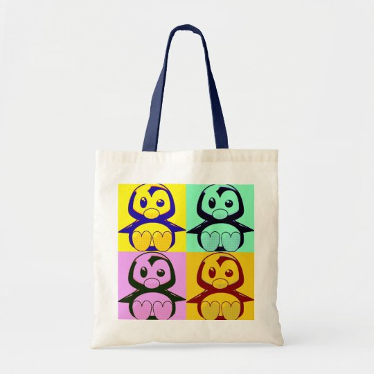 Pop Art Baby Tux Tote Bag
