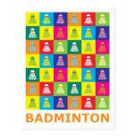 Pop Art Badminton Postcard