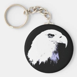 Pop Art Bald Eagle Keychain