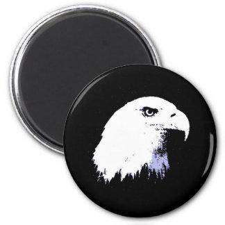 Pop Art Bald Eagle 2 Inch Round Magnet