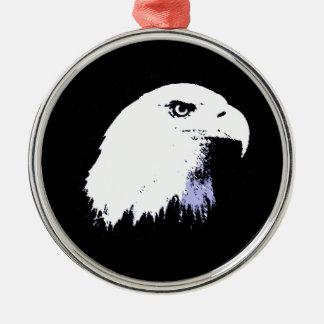 Pop Art Bald Eagle Christmas Tree Ornament
