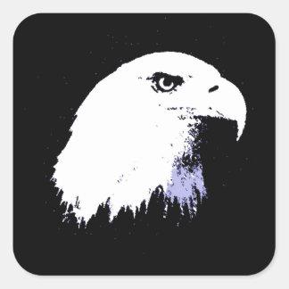 Pop Art Bald Eagle Square Sticker