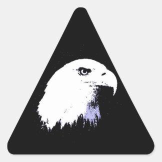 Pop Art Bald Eagle Triangle Sticker
