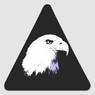 Pop Art Bald Eagle Triangle Sticker