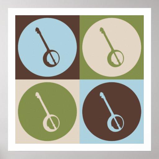 Pop Art Banjo Poster