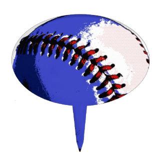 Pop Art Baseball Cake Topper
