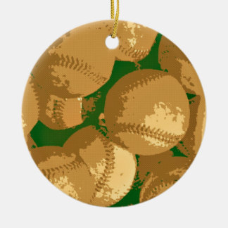 Pop Art Baseball Ceramic Ornament