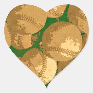 Pop Art Baseball Heart Sticker