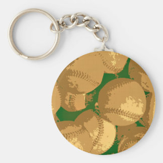 Pop Art Baseball Keychain
