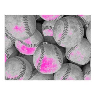 Pop Art Baseball Postcard