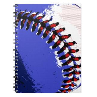 Pop Art Baseball Spiral Notebook