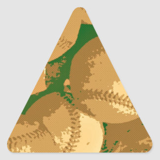 Pop Art Baseball Triangle Sticker