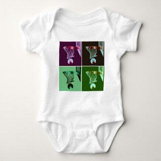 Pop Art Basketball Baby Bodysuit